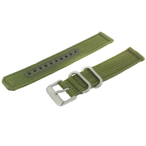 Seiko Watch Band Nylon Green | Seiko 4K11JZ  | Front