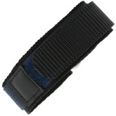 22mm Navy Velcro Watch Band | 22mm Black Navy Watch Strap | 22mm Sport Navy Watch Band | Watch Material VEL100N-22mm | Top