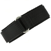 16mm Black Velcro Watch Band | 16mm Velcro Black Watch Strap | 16mm Sport Black Watch Band | Watch Material VEL100BLK-16mm | Buckle