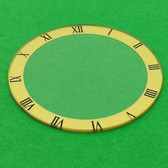 gold color round watch glass