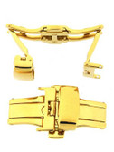 Deployment buckle 2N18 Gold Plated with Push button -DEPLOYMENT BUCKLE 6 - Main
