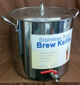 Stainless 30qt Brewpot w/ Lid AND Kettle Valve