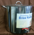 42qt Polarware Stainless Steel Pot w/ Brewer's Edge Kettle Valve Installed