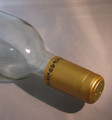 Shrink Wrap Wine Bottle Toppers/100- Gold w/ Black