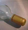 Shrink Wrap Wine Bottle Toppers/100- Gold w/ Black