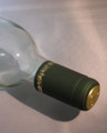 Shrink Wrap Wine Bottle Toppers/100- Green w/ Gold