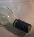 Shrink Wrap Wine Bottle Toppers/100- Navy Blue w/ Gold