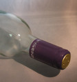 Shrink Wrap Wine Bottle Toppers/100- Purple w/ Silver