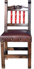 Carved Chair w/ Red Torno Back