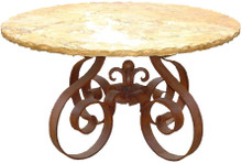 Marble Round Dining Table Iron Base