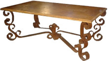 Marble Top Dining Table Iron Base