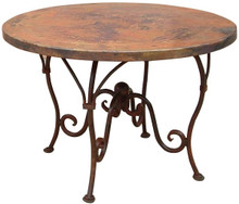 Copper Top Dining Table w/ Iron Base