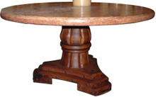 Mesquite 60'' Table w/ Marble Top