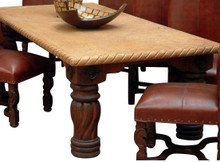 Mesquite Rope Marble Top Dining Table