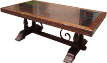 Morelia Dining Table w/ Glass Top