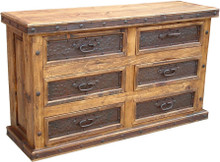 Six Drawer Dresser w/ Metal