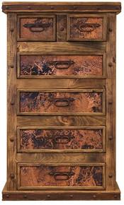Tall Copper Dresser