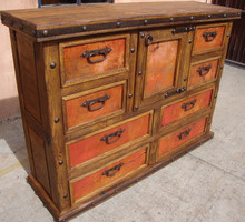 Eight Drawer Copper Dresser