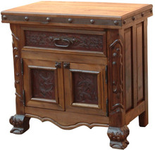 Mesquite Tooled Leather Nightstand