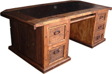 Hacienda Desk w/ Leather Top