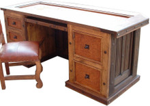 Tooled Leather Hacienda Desk