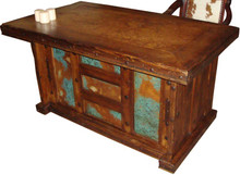 Blue Copper Desk w/ Marble Top
