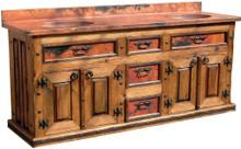 Ensenada Sink Cabinet w/ Full Copper Top