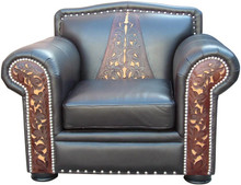 Morelia Tooled Leather Sofa Chair