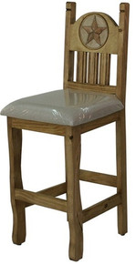 Rancho Stone Star Barstool w/ Cushion