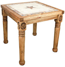 Rancho Stone Top 48'' Pub Table w/ Star