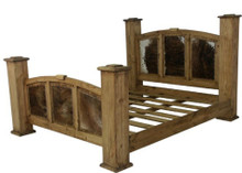 Mansion Queen Bed w/ Cowhide