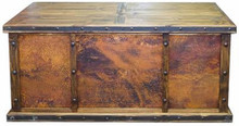 Laguna Copper Panel Desk