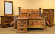 Hacienda California King w/ Copper 5pc Bedroom Set