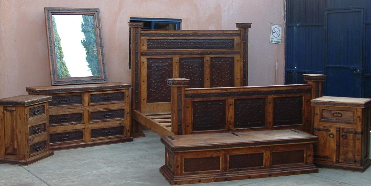 Hacienda California King W Metal 6pc Bedroom Set Pueblo