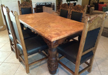 Hacienda 84'' 7pc Dining Set w/ Marble Top