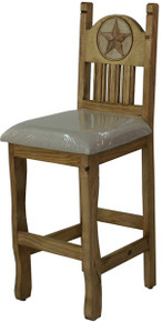 Rancho Stone Star Counter Stool w/ Cushion