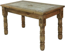 Rancho Stone Top 60'' Pub Table w/ Star