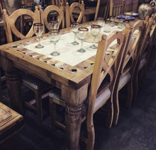 Palenque Stone Top 7pc Dining Set