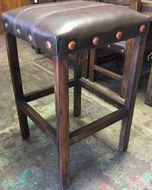 Remaches Leather Barstool