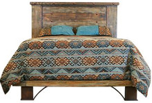 Urban Rustic Platform Queen Bed