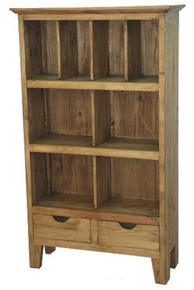 Chipilo 2 Drawer Bookcase