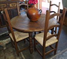 48'' Round 5pc Dining Set - Dark Finish