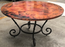 Caracol Table w/ Copper Top