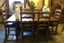 Yugo 72'' 7pc Dining Set w/ Emperador Chairs