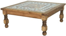 Stone Top Square Coffee Table