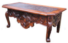 Mesquite San Miguel Desk w/ Tooled Leather