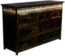 Rope 7 Drawer Dresser w/ Marble