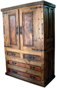 Copper 2dr 4 Drawer Armoire