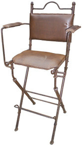 Playa Iron Barstool w/ Leather