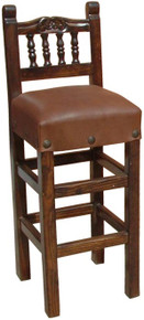 Carved Torno Back Barstool